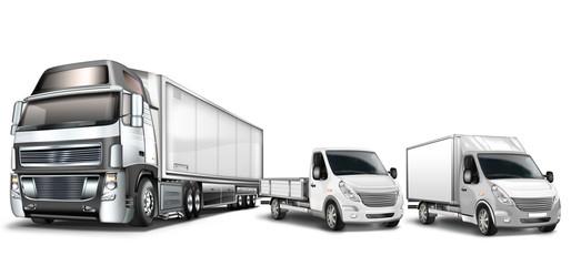 Truck, LKW, Kleintransporter freigestellt
