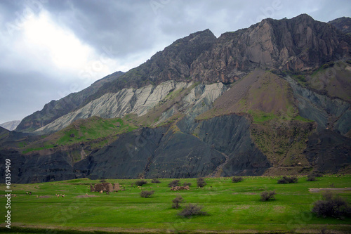 Countryside of Zardkouh mountains in Iran