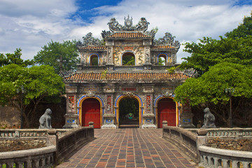 Gate to a Citadel in Hue, Vietnam.
