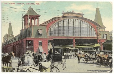 Old Union Station in Atlanta 1912 (histor. Postkarte)