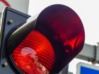 rotes Licht bei einer Verkehrsampel