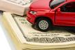 Auto auf Dollar Geldscheinen
