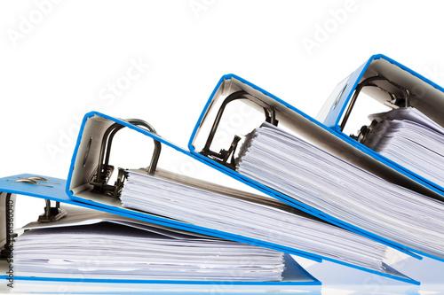 Leinwanddruck Bild Akten Ordner mit Schriftstücken und Dokumenten