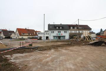 Dorfplatz Baden-Baden Sandweier Umbauphase