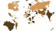 Weltkarte mit allen Ländern