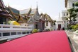 red carpet. entrance of a landmark, Bangkok, Thailand