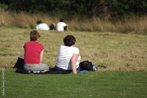 women sitting relaxing