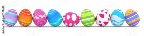 colorful easter eggs - 61361649