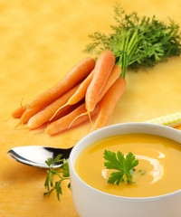 cup of carrot soup