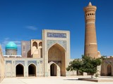 View of Kalon mosque and minaret - Bukhara