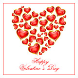 vector illustration of Happy Valentine's Day hearts