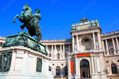 Hofburg Palace and statue, Vienna, Austria