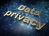 Security concept: Golden Data Privacy on digital background