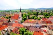 View over the old town of Melk, Austria