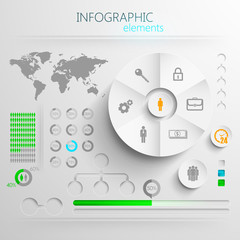 paper infographic elements for design