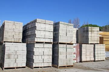 Palettes de matériaux de construction