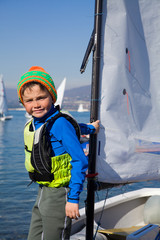 young yachtsman