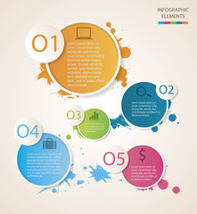 Watercolour circle Infographic
