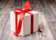 Winter gift in red and white colors
