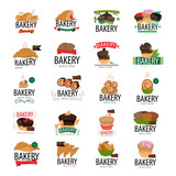 Bakery Icons Set - Isolated On White Background