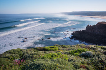 bordeira beach in South-West Alentejo and Costa Vicentina Natura