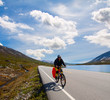 Mountain biker in Norway