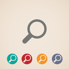 vector magnifier icons