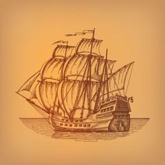 Ship. Vector format