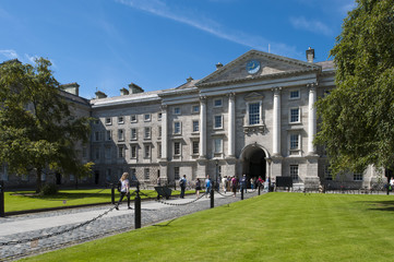 The grounds of Trinity College, Dublin, Ireland