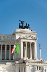 The Altare della Patria in Rome, Italy.