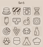 Outline Icons Set 6