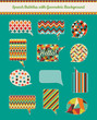 Speech Bubbles with Geometric Grunge Background