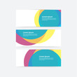 Vector cmyk template. Colorfully banner - template with place fo