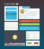Flat User Interface Kit for web and mobile 4
