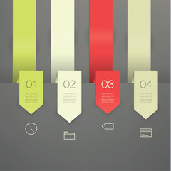 Vector colorfully template. Four clean arrows with place for you