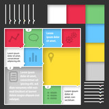 Flat web mobile interface kit