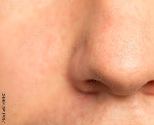 nose male. macro