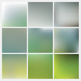 Vector colorfully blurred backgrounds. Pack of fresh blurry back