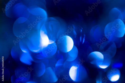 beautiful holiday bokeh background of blue