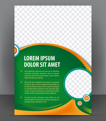 Vector brochure, flyer, magazine, cover empty template