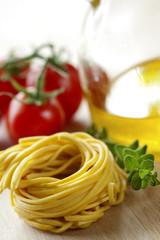 fresh italian tagliatelle pasta