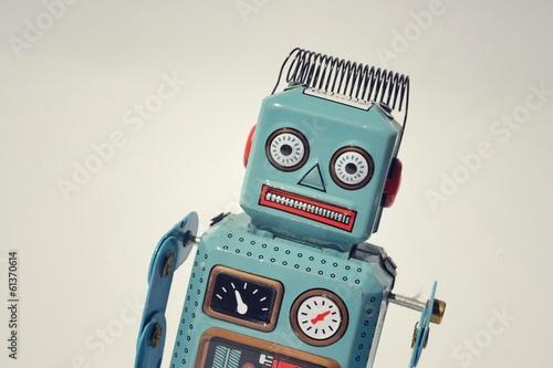 Vintage tin toy robot - 61370614