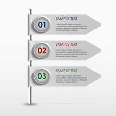 Colorful info graphic banner template