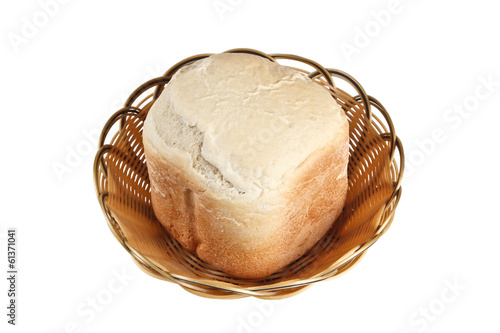Homemade bread in basket