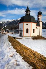 Baroque church Seekirche in Seefeld in Tirol