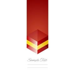 Spain cube flag white background vector