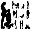 Vector silhouette of a pregnant woman.