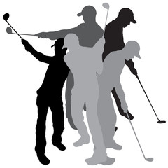 Vector silhouette golf.