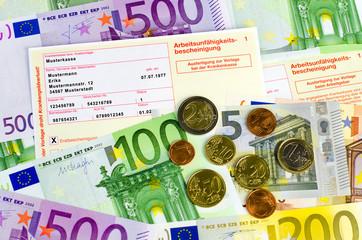 Geld und Krankenschein