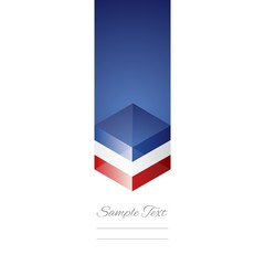 France cube flag white background vector